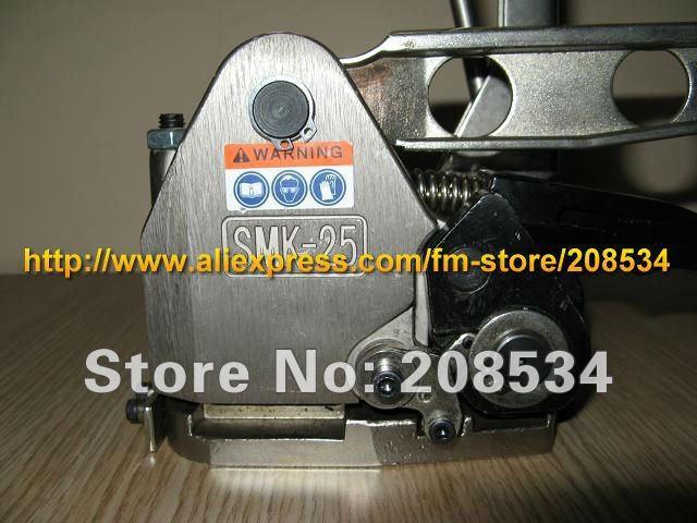 Купить с кэшбэком Wholesale SMK-25 Manual combination Buckless steel strapping Machine ,Buckle-Free Steel Strip banding machine for 13-25mm