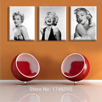 Big Size White Black Marilyn Monroe Modern Wall Art Picture Printed Oil Painting On Canvas Art
