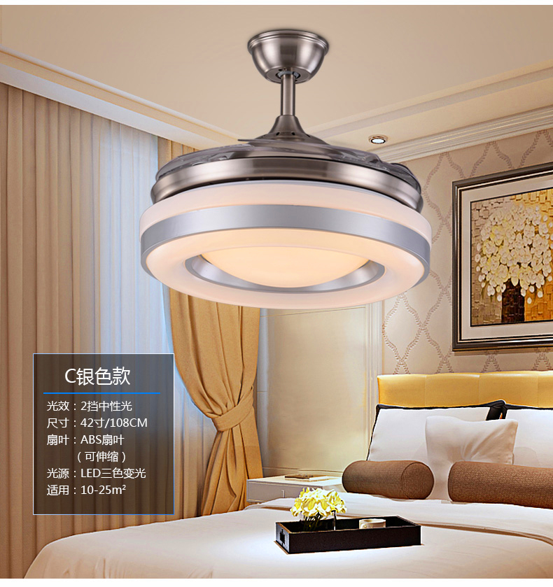 110~240V fan lamp ceiling fan dining room living room-bedroom vintage ceiling fan light with remote control 108CM