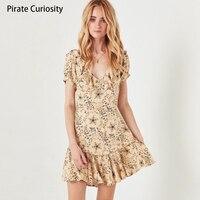 Pirate Curiosity Women Dressess Short Sleeved Star Print Celestial Mini Dress Summer dress 2018 Femme Vestidos Casual Dresses