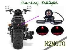 Retro Del Motociclo Pallottola Led della Luce di Freno della Coda di Arresto Della Lampada Con Piatto di Staffa Per Harley Chopper Bobber Yamaha Honda Suzuki