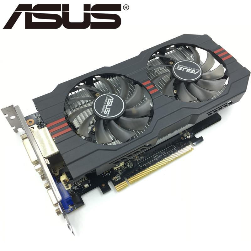 Видеокарта ASUS, GTX 750 Ti 2 Гб 128 бит GDDR5, графические карты для nVIDIA Geforce GTX 750Ti, б/у, VGA карты GTX750TI 1050, оригинал-0