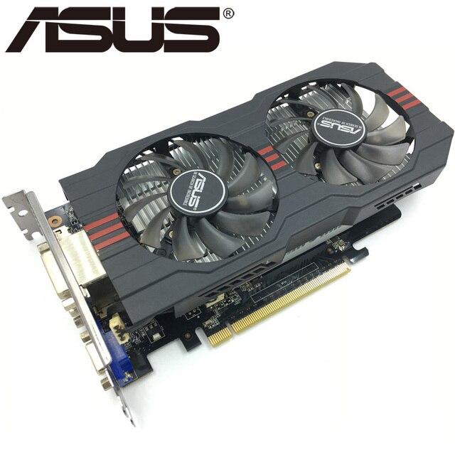 ASUS Графика карты оригинальный GTX 750 Ti 2 Гб 128Bit GDDR5 видео карты для nVIDIA Geforce GTX 750Ti использовать карты VGA GTX750TI 1050