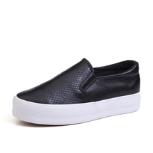 Spring Summer Ladies Casual Loafer Shoes Women's Flats Platform Slip Height Increasing Solid Simple Casual Shoes Chaussure Femme