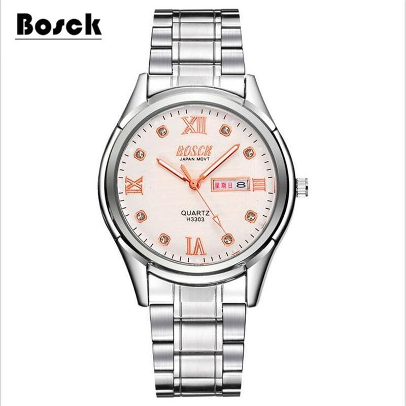 Women's Watches Simple Stainless Steel Mesh Strap Lovers Quartz Wrist Watch Ladies Bracelet