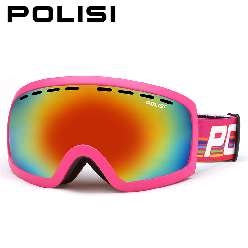 POLISI Men Women Ski Goggles UV400 Double Layer Lens Snowboard Skiing Glasses Winter Snow Skiing Skateboard Protective Eyewear polisi double layer lens ski snow glasses winter anti fog snowboard goggles uv400 protection skiing eyewear gafas de nieve