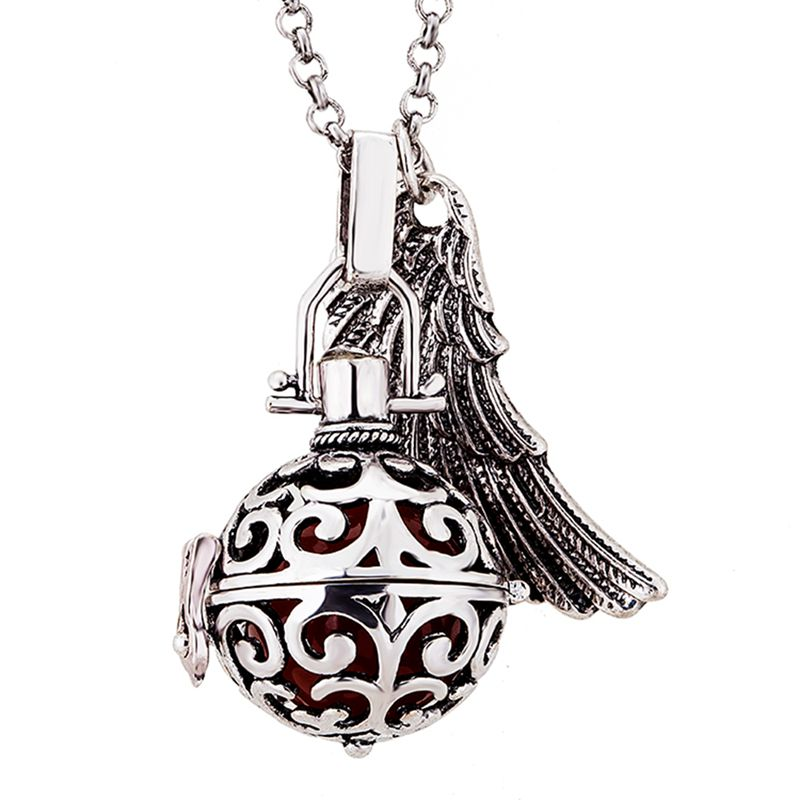 Life Pendants maternal prenatal necklace bell sounds harmony ball necklace beads necklace, essential oil diffuser.