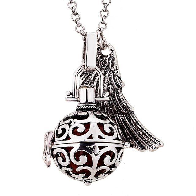 Aliexpress buy life pendants maternal prenatal necklace bell life pendants maternal prenatal necklace bell sounds harmony ball necklace beads necklace essential oil diffuser aloadofball Images