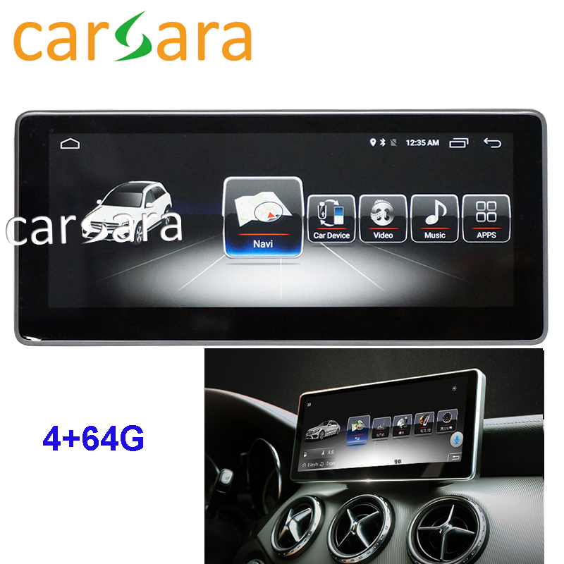 "4G RAM 64G ROM 10.25"" Android touch screen monitor for Mercedes W176 CLA 45 200 250 Car Audio GLA CLA A G Class 2013 to 2015"