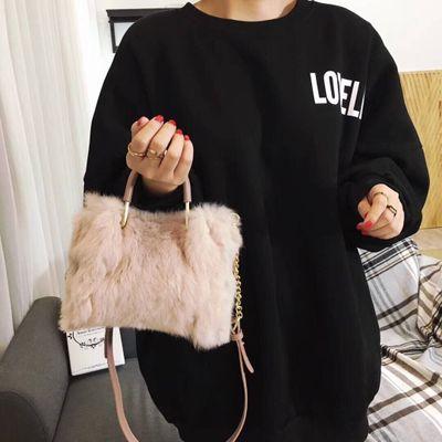 NEW Fashion New Design Leather Fur Soft Real Leather Women Handbag Female Shoulder Bag Girls Messenger Bag Casual Women Bag