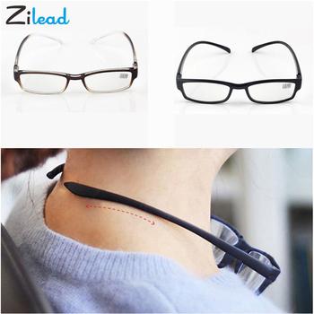 Zilead niezniszczalny komfortowe światło wygodne Stretch okulary do czytania prezbiopia mężczyźni kobiety 4 0 3 5 3 0 2 5 2 0 1 5 1 0 czytaj óculos tanie i dobre opinie Unisex Przezroczysty Lustro YJ0655 3 5cm Akrylowe 6 2cm Plastikowe tytanu 200002198 200002146