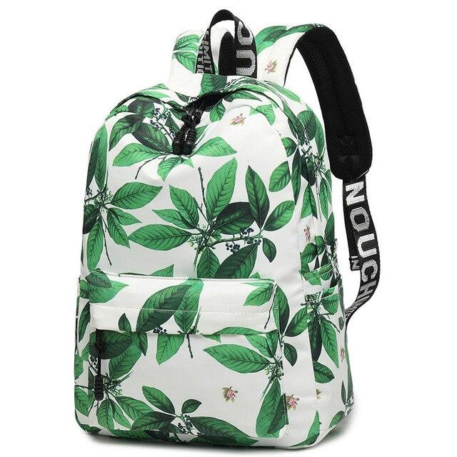 a68bde52ec Simple Vintage Chinese Style Women Canvas Backpack Flower Printing Nylon Bag  Girls Laptop School Bags Mochila