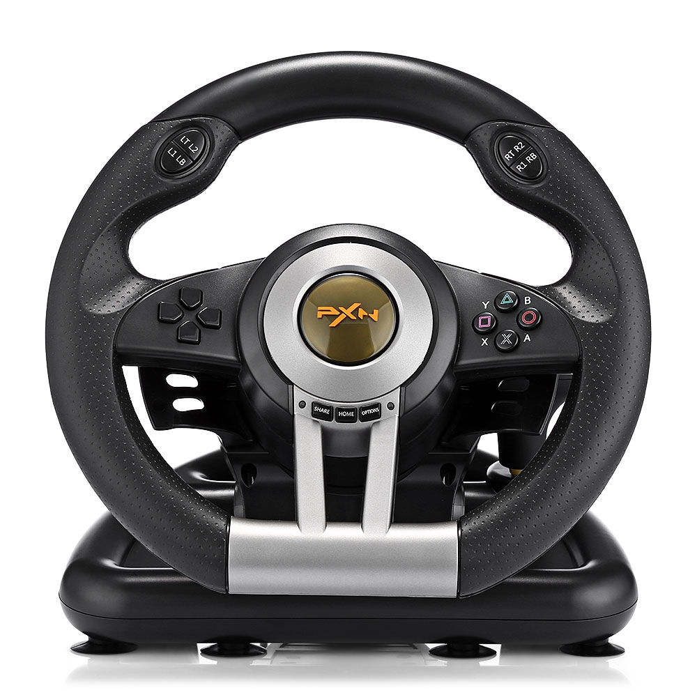 PXN V3II Racing Game Steering Wheel USB Game Controller Computer Car Driving Simulator for PC Wii Games Wheel for PS3 PS4 Xbox