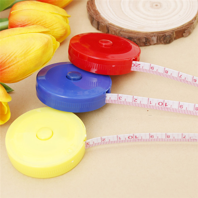 1 Pcs Random Color New Retractable Ruler Tape Measure 60 inch Sewing Cloth Dieting Tailor 1.5M Drop Shipping