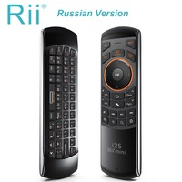 Rii Mini I25 Russian Keyboard Air Mouse 2 4GHz Wireless Remote Control Game Accessories For Laptop