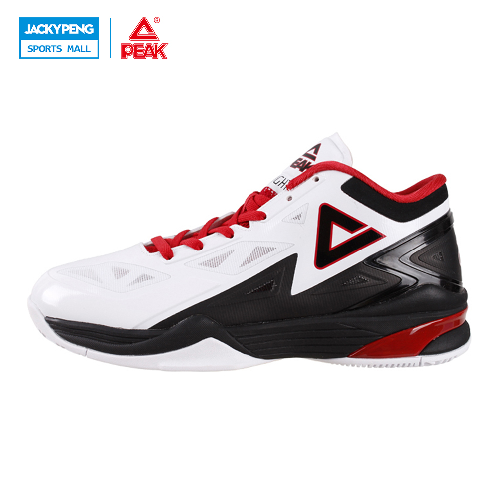 PEAK SPORT Lightning II Men Basketball Shoes Professional Athletic Competitions Sneakers FOOTHOLD Cushion-3 Tech Boots EUR 40-50 peak sport star series george hill gh3 men basketball shoes athletic cushion 3 non marking tech sneakers eur 40 50