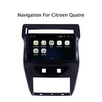 10 Inch Android 8.0 GPS Navigation Steering Wheel Control For Citroen C Quatre 2012 2018 Multimedia Player