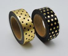 2016 New Dots Foil Printing Washi Tape Kawaii Decorative Tapes Scrapbook Tools Cute Paper Crafts Washi Paper Adhesive