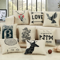 Cartoon Letter Print Cushion Mall Company Gift Square 45 45cm Home Deocr Sofa Seat Chair Back