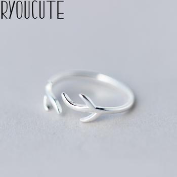 RYOUCUTE 100 prawdziwe srebro kolor biżuteria moda Big Branch proste pierścienie dla kobiet oświadczenie Bijoux antyczny pierścionek Anillos tanie i dobre opinie CN (pochodzenie) Miedziane Kobiety Metal TRENDY Obrączki ślubne ROUND Zgodna ze wszystkimi Poprawiające nastrój Statement Rings