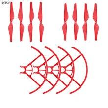 4 쌍 프로펠러 프로펠러 블레이드 + 2 쌍 프로펠러 보호 커버 가드 RC DJI TELLO Drone 액세서리