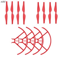 4 pair Propeller Prop Blade + 2 pair propellers Protection Cover Guard for RC DJI TELLO Drone Accessories