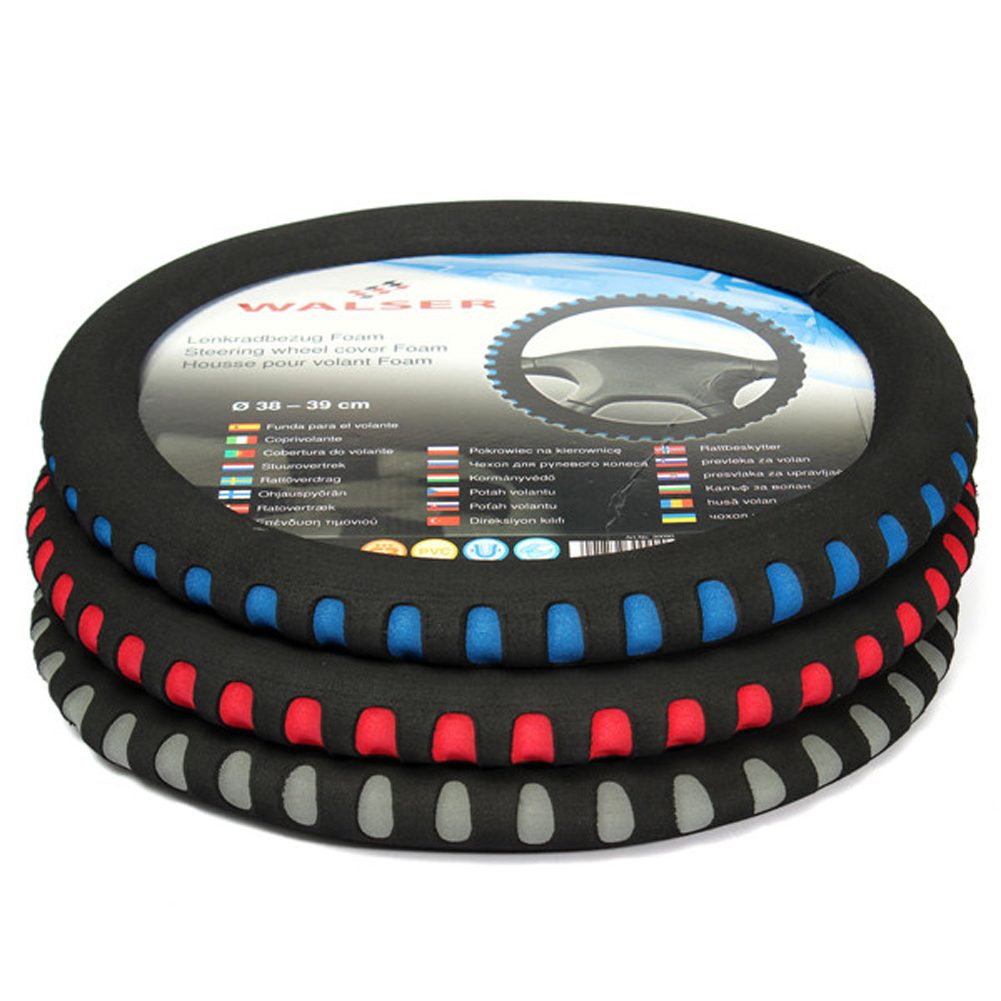 HIgh Quality EVA Universal Car Steering Wheel Cover Diameter 38cm Automobiles Steering-wheel Cover Car-styling Blue/Red/Gray