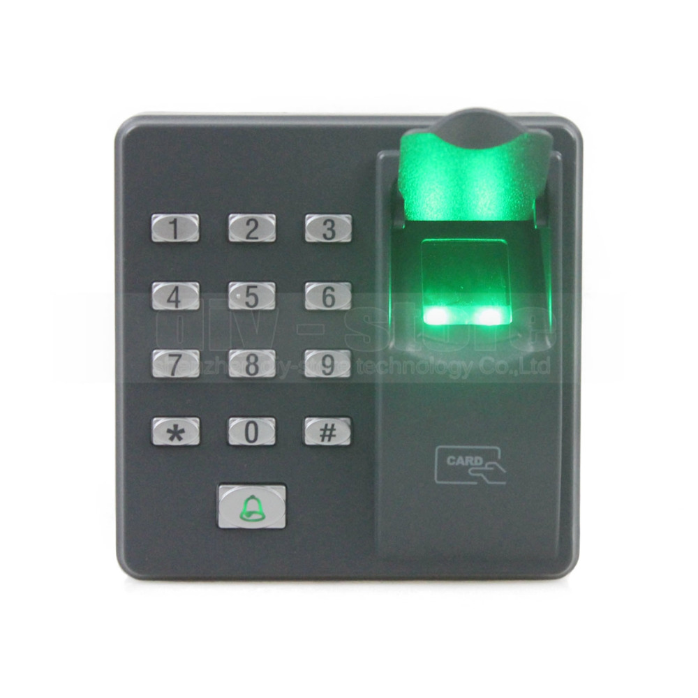 DIYSECUR Biometric Fingerprint Access Control Machine Digital Electric RFID Reader Code Password Keypad System for Door Lock diysecur magnetic lock door lock 125khz rfid password keypad access control system security kit for home office