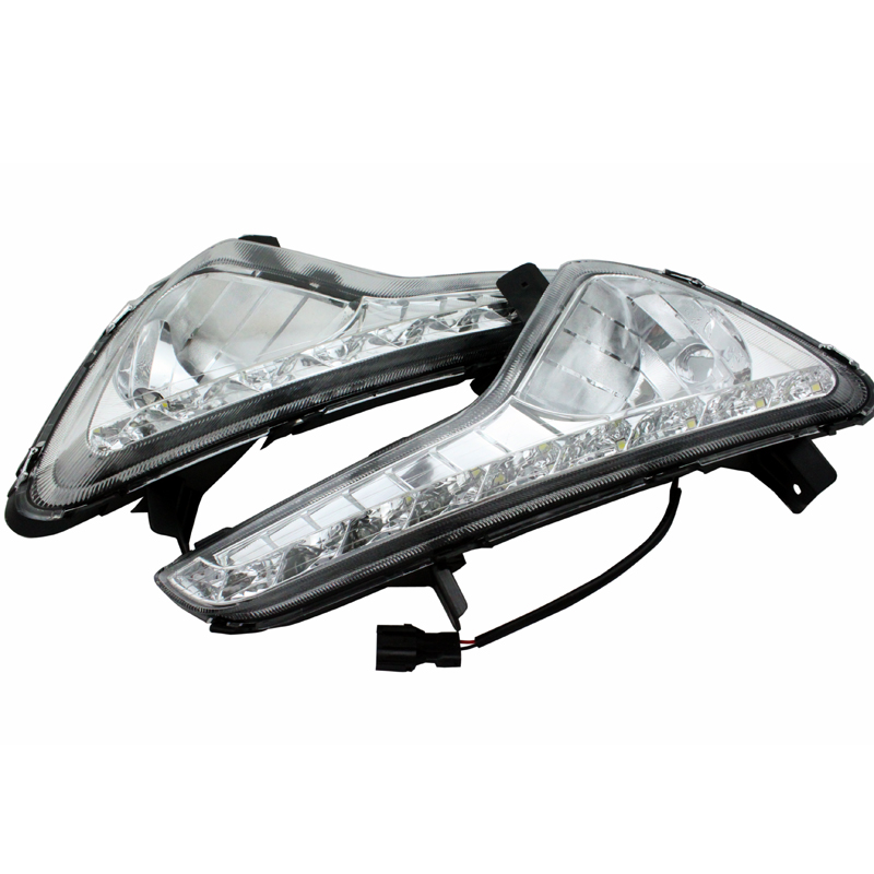 SUNKIA 2Pcs/Set LED Daytime Running Light DRL Fog Lamp Day Lights For KIA Sportage  2012 2013 2014 Free ShippingSUNKIA 2Pcs/Set LED Daytime Running Light DRL Fog Lamp Day Lights For KIA Sportage  2012 2013 2014 Free Shipping