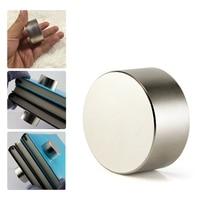New 2Pcs Neodymium Magnet N52 40X20 Mm Super Strong Round Rare Earth Powerful Ndfeb Gallium Metal Magnetic Speaker