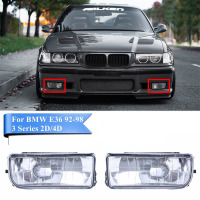 Mayitr 1 Pair Clear Lens Left Right Front Fog Light Lamp With No Bulbs For BMW