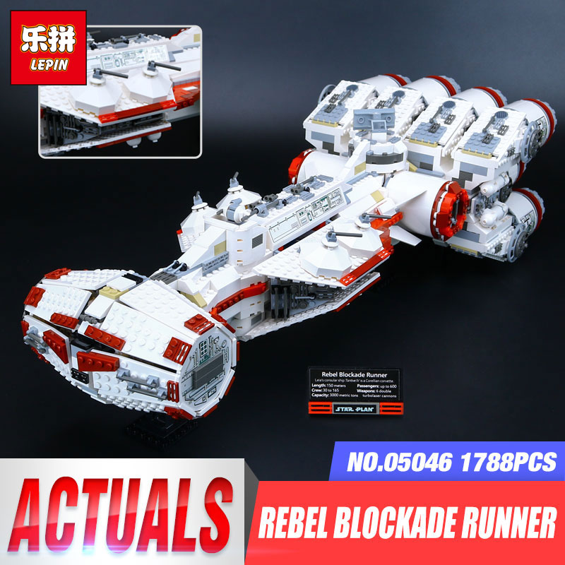 Lepin 05046 Star Series Wars The Tantive IV Blockade Runner legoing 10019 Educational Building Blocks Bricks for Boy's toy Gifts 2017 new 05046 1788pcs star tantive iv re blockade bel runner model building blocks brick toy gift 10019 funny toy war