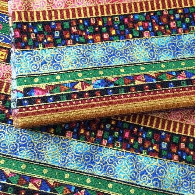 1 Mètre blueTrade coton et lin imprimé ethnique BRICOLAGE rideau ...