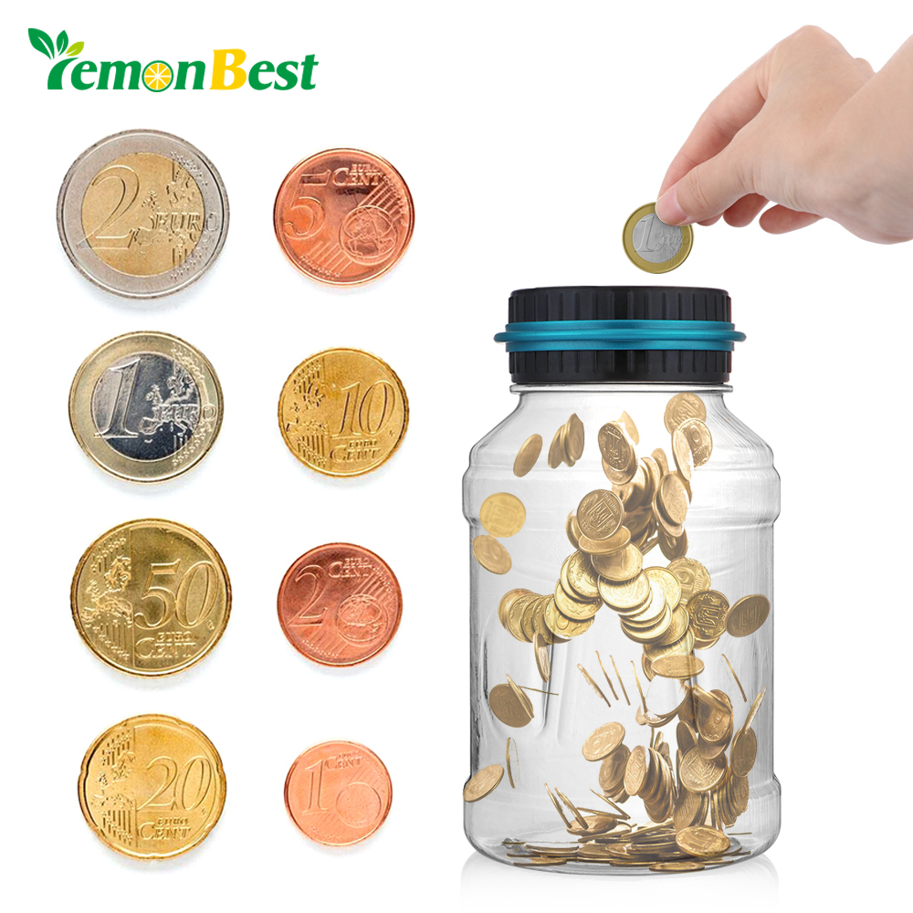 Libra A Euro Lemonbest Money Box Large Digital Coin Counting Money Euro Pound