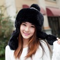 Winter hat female lei feng cap knitted hat autumn and winter hat