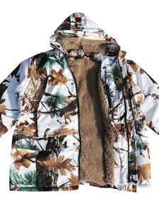 Image 5 - Forro grueso para clima frío forro polar Pino camuflaje nieve abrigo de caza biónico chaqueta y pantalones invierno impermeable Ghillie trajes