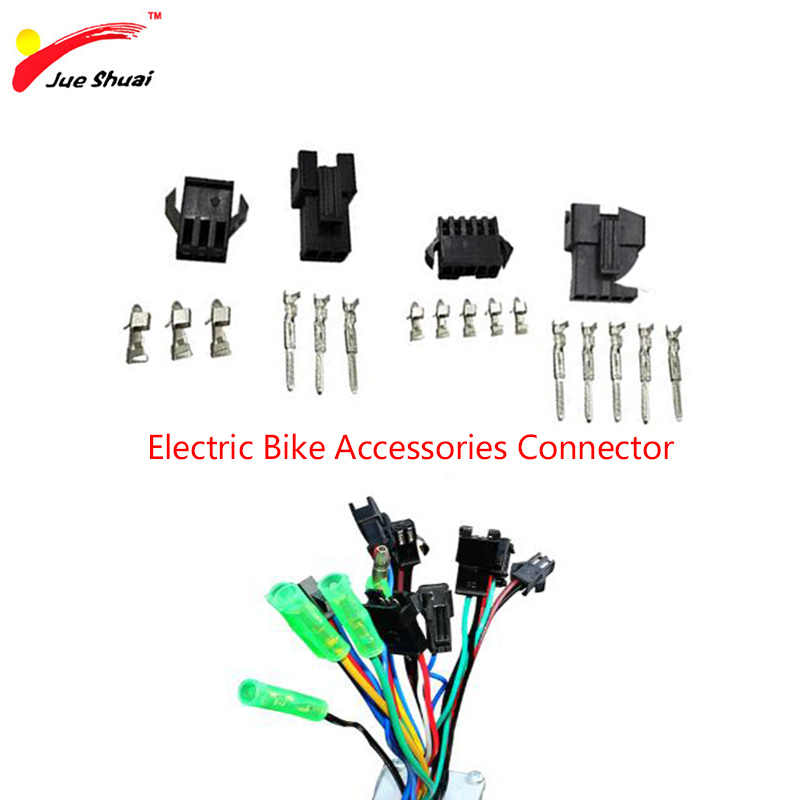 Electric Bike Accessories Waterproof Connector Round Plug Display Cut off Power Brake Throttle Electric Bicycle Parts Cycling