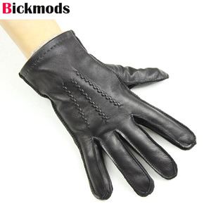 Image 3 - Gants en cuir de mouton pour homme, haute qualité, style suture, gants importés, en laine, chauds, automne