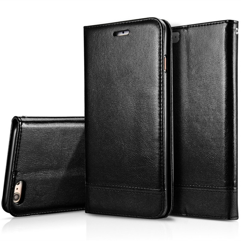 Luxury Coque For Flip Cover Apple iPhone 7 6s Case Genuine Real Leather Wallet Phone Case For iPhone 6s Plus Retro