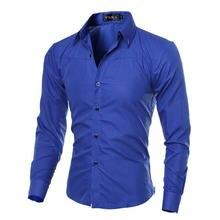 Повседневное Для мужчин s Модная рубашка в клетку с длинным рукавом для Для мужчин социальной платье рубашки Размеры: M-5XL