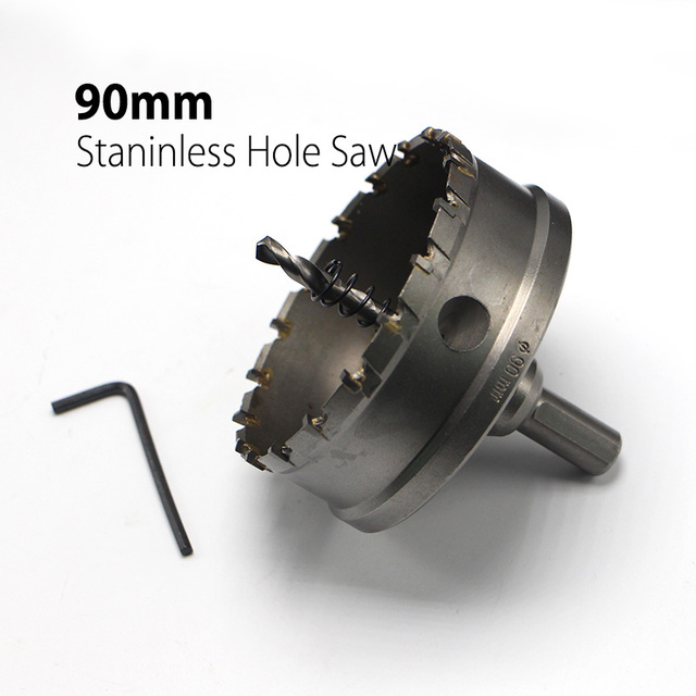 90mm 3 54 Core Drill Bit Hard Alloy Metal Hole Saw Drill Bit For Steel Metal Alloy Cutter Metal Working