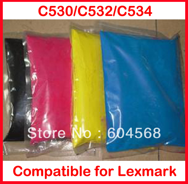 High quality color toner powder compatible Lexmark C530/C532/C534 Free Shipping
