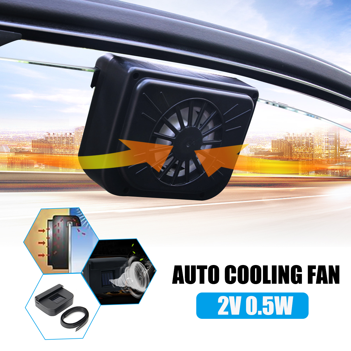 20v 05a Car Solar Exhaust Fan Auto Air Cooling With Rubber Cool Stripping Energy Saving Ventilation System In Heating Fans From Automobiles Motorcycles