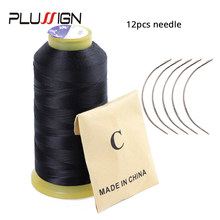 Plussign 1Pcs 2000 Meter Hair Weave Thread For Weaving Needle Brazilian Indian Hair Weft Extension Sewing Salon Styling Tools(China)