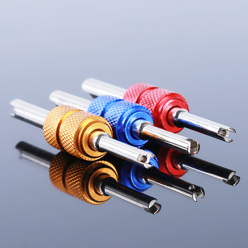 Universal Valve Installer Valve Core Remover Tool Car Air Conditioning Valve Core Wrench Disassembly Screwdriver Repair Tools