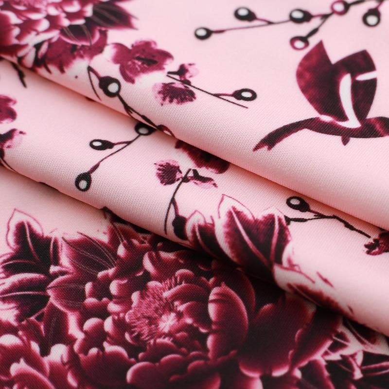 HTB1ClwPfRTH8KJjy0Fiq6ARsXXas - Vintage Floral Print Female Office Dress-Vintage Floral Print Female Office Dress