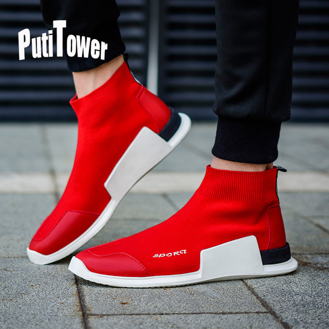 Slip On High Top Shoes Men Casual Slipony Walking Flats Tenis Masculino  Adulto Breathable Luxury Brand Chaussure Homme XSD256 04bef0ea36e5