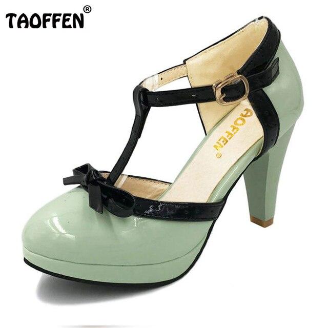 TAOFFEN Damen Wedding Shoes Sandalen High Heel