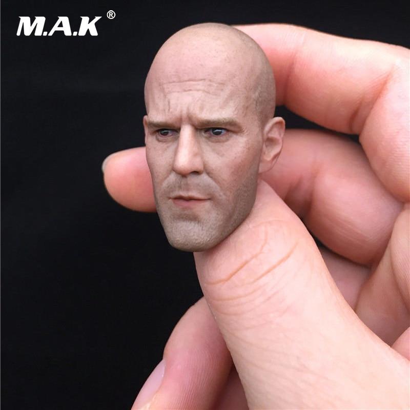 1:6 Scale Bald Male Head Carving Jason Statham Head Sculpt Model for 12'' Figure Body Accessory 1 6 scale male figure carving daredevil punisher jon bernthal head sculpt battle damage version model for 12 body