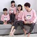 Family Matching Outfits Baby Mom Women Girl Kids Spring Fall Pajamas Mother Father Child Pajamas Family Matching Clothings MM45